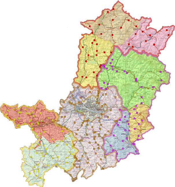Cartina Citta Di Firenze.Citta Metropolitana Di Firenze Centri Operativi