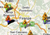 Visualizzazione dei cantieri su mappa
